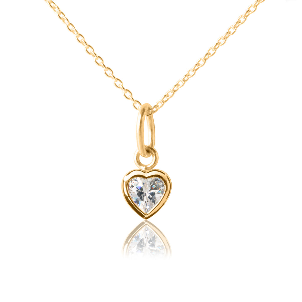 Sparkle Heart Pendant & Necklace - Gold