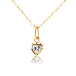 Children's Heart Pendant & Necklace - 18 karat gold
