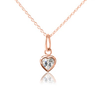 Children's Heart Pendant Rose Gold