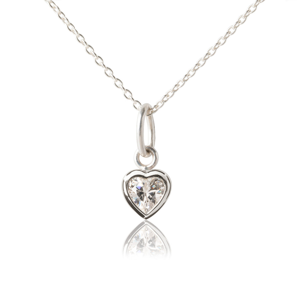 Children's Heart Pendant - Silver
