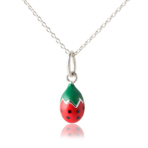 Children's Strawberry Pendant - Necklace for girls