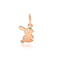 Children's Bunny Pendant - Rose Gold - Sterling silver
