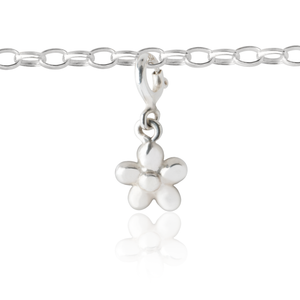 Children's flower charm and charm bracelet