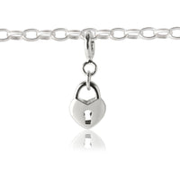 Girl's Padlock Charm - children's charm on charm bracelet