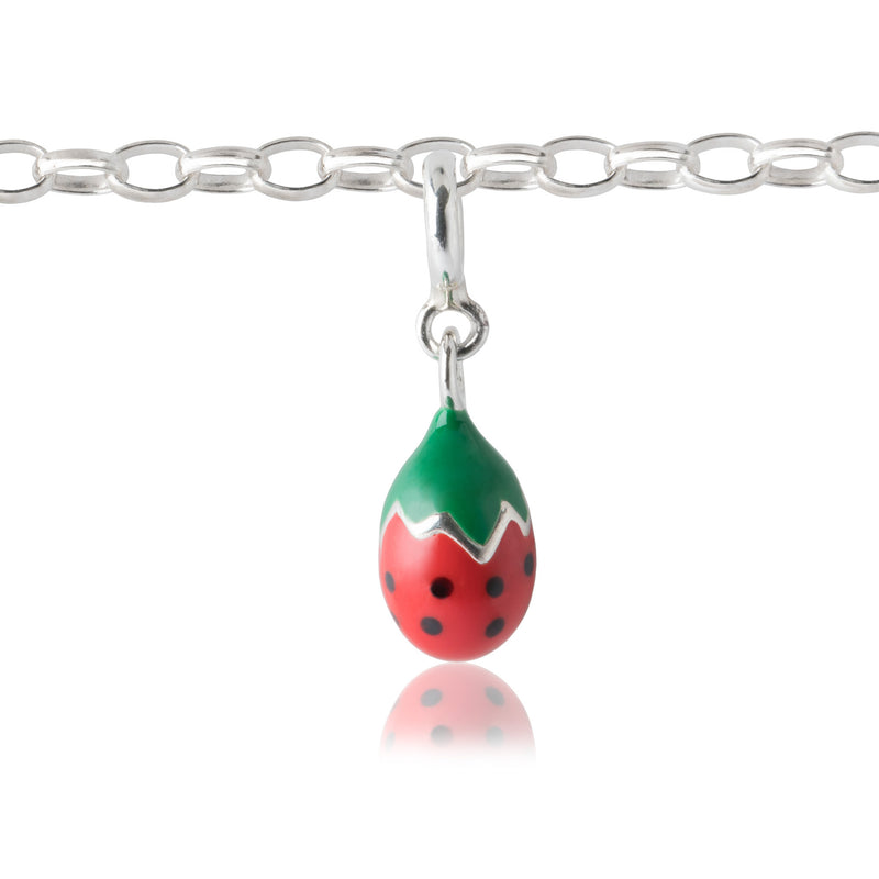 Girl's Strawberry Charm for charm bracelet