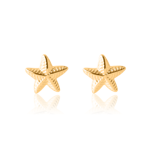 Children's Gold Star Earrings