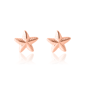 Children's Star Earrings - Rose Gold
