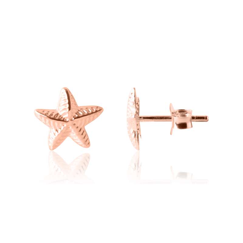 Kid's Star Earrings in Rose Gold