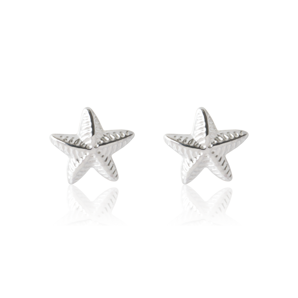 Children's Sterling silver star earrings