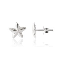 Kid's Star Earrings in sterling silver