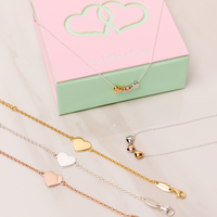 ADULT Three of Puff Hearts Necklace