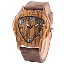 Load image into Gallery viewer, Men Wooden Triangle Watch - Available in Four Different Face Colour Options
