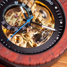 Load image into Gallery viewer, BOBO Bird Men's Wooden Skeleton Watch