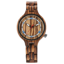 Load image into Gallery viewer, Ladies Full Wooden Watch With Unique Zebra Style Finnish