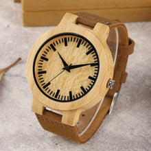 Load image into Gallery viewer, Men's Wooden Bamboo Watch