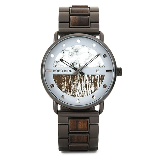 BOBO Bird Men's Wood And Metal Quartz Watch