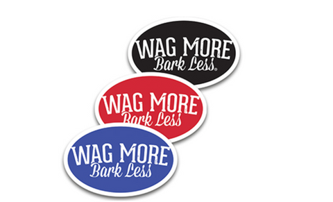 Wag More, Bark Less Stickers & Magnets