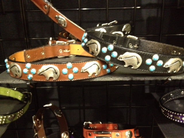 Medieval Turquoise  Bear Dog Collar Collection
