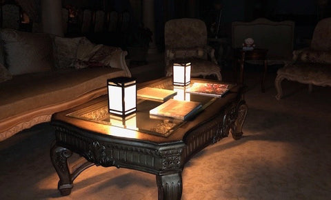 Solar Lantern Indoors on Table