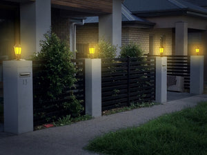 Solar Wall or Pillar Light – Flame or Still Light SKL-501 (1 Pack)