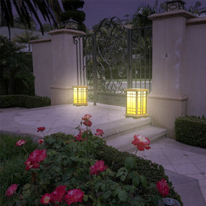 "Solar Zen Lantern - Amber or White Light SJL Series (Height 15.6"") (1 Pack)"