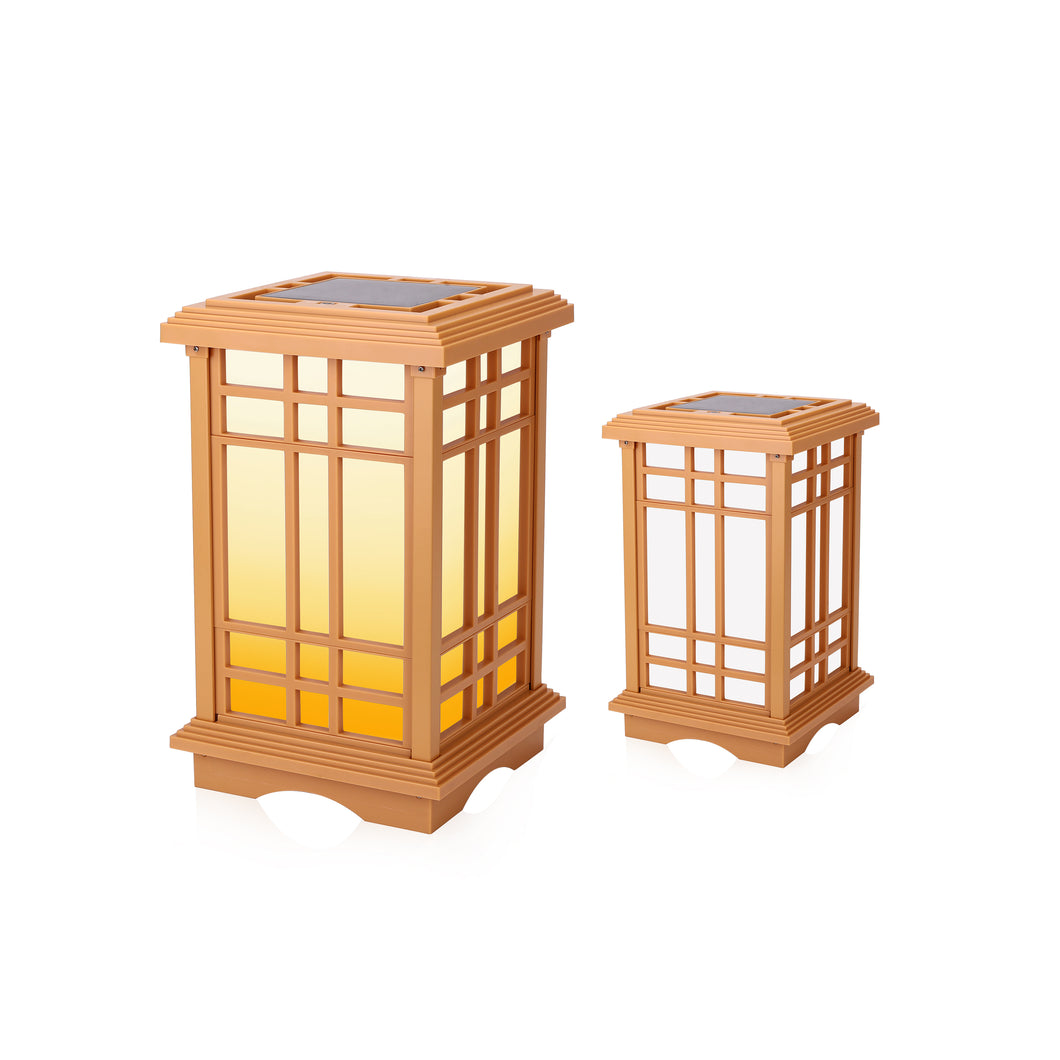 Solar Zen Lantern - Amber or White Light SJL Series (Height 15.6