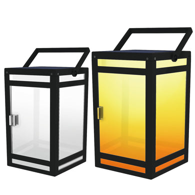 Portable Frosted Panel Solar Lantern Model STL-206 (1 Pack)