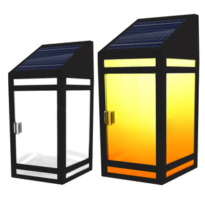 Solar Frosted Panel Wall Lantern Model STL-207 (2-Pack)