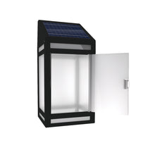 Solar Frosted Panel Wall Lantern Model STL-207 (1 Pack)