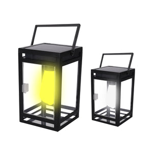 Solar LED Portable Lantern Amber or White Light Model STL-208 (1 Pack)