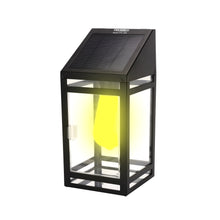 Solar LED Wall Lantern Amber or White Light Model STL-209 (1 Pack)