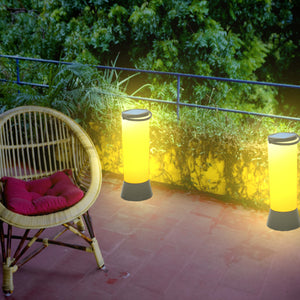 Solar Portable Garden and Path Light - Amber or White STL-212 (1 Pack)