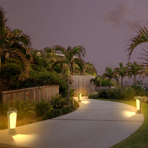 Solar Portable Directional Garden and Path Light - Amber or White STL-216 (1 Pack)