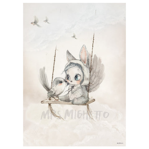 Mini Bird Master plakat str. 50X70 cm - Mrs. Mighetto