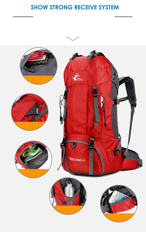 60L Multifonctions Waterproof Backpack