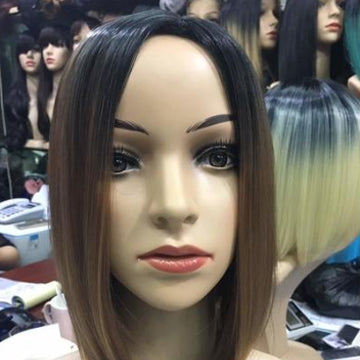 Bob cut synthetic wig
