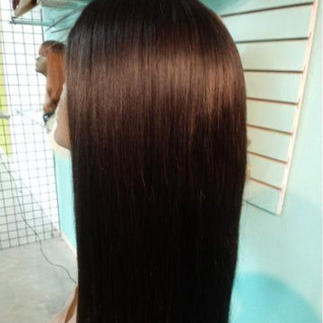 "26"" real virgin Indian hair three bundles and a closure"