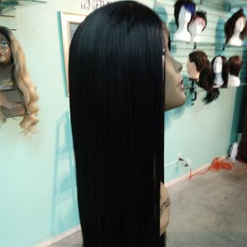 "26"" lace front synthetic blend"