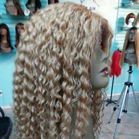 Custom Made Curly Blonde Wig
