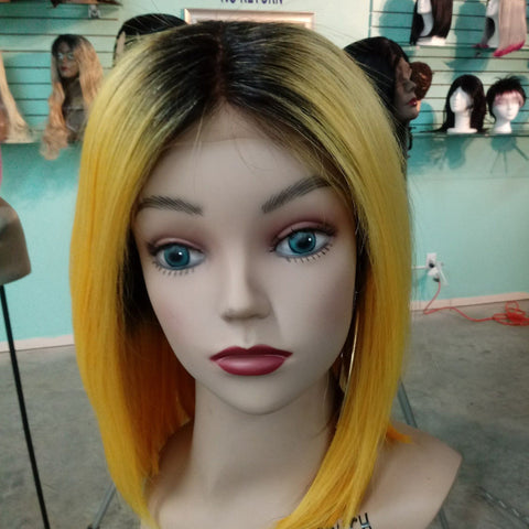 Custom Color Bob Wig Unit
