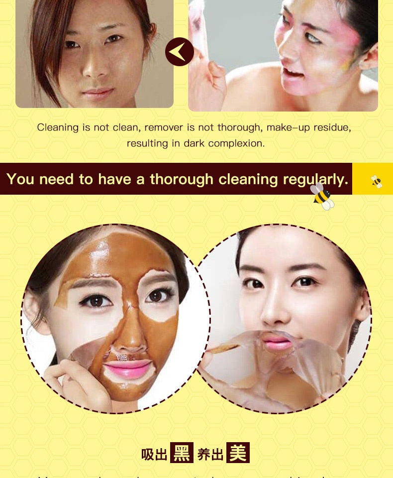Honey tearing mask Blackhead Remover Peel Off Dead Skin Clean Pores Shrink Facial care face