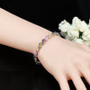 Jewelry Silver Color Leaf Charm Crystal Female Bracelets Bangles for Women
