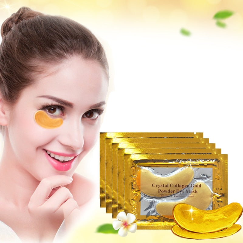 Crystal Collagen Gold Eye Mask Anti-Aging Dark Circles Acne Beauty  Patches For Eye Skin Care