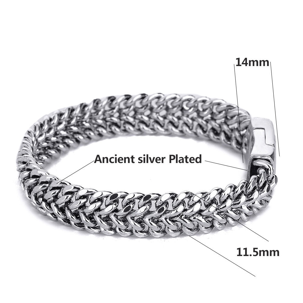 Punk Width Buddha Bracelet for Women Bangle Charms Bracelets Men Pulseira Jewelry