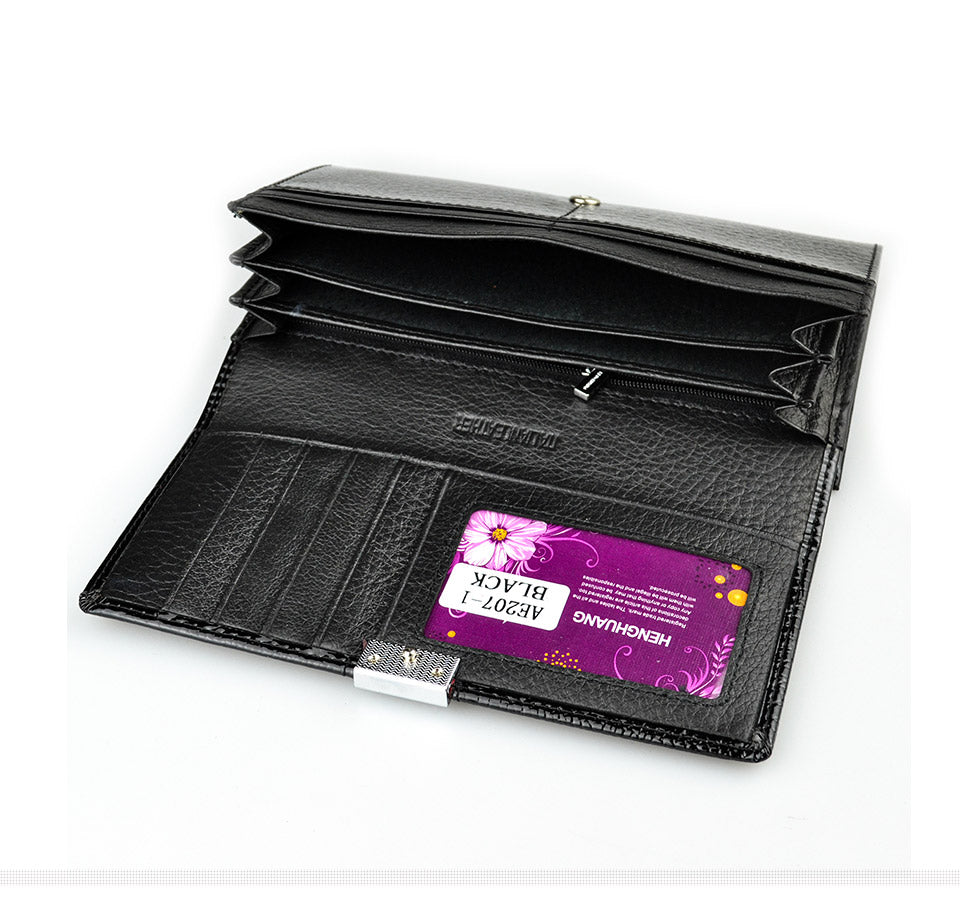 Womens Wallets Patent Alligator Bag Female Design Clutch Long Multifunctional Coin Card