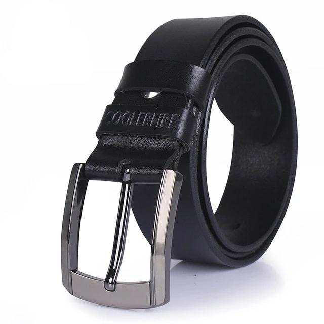 Men high quality genuine leather belt luxury designer belts men cowskin fashion Strap male Jeans