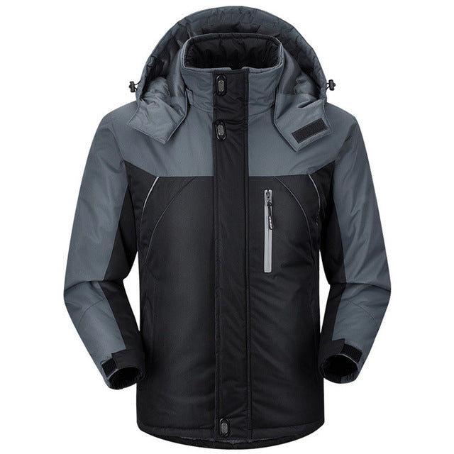 Men's Winter Jackets Mens Thicken  Coats Male Hooded Parkas Thermal Warm