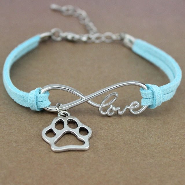 Dog Paws Best Friends Heart Unicorn Animal Infinity Love Charm Bracelets Silver Jewelry