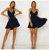Summer Women Lace Dress Backless V-neck Beach Dresses Fashion Sleeveless