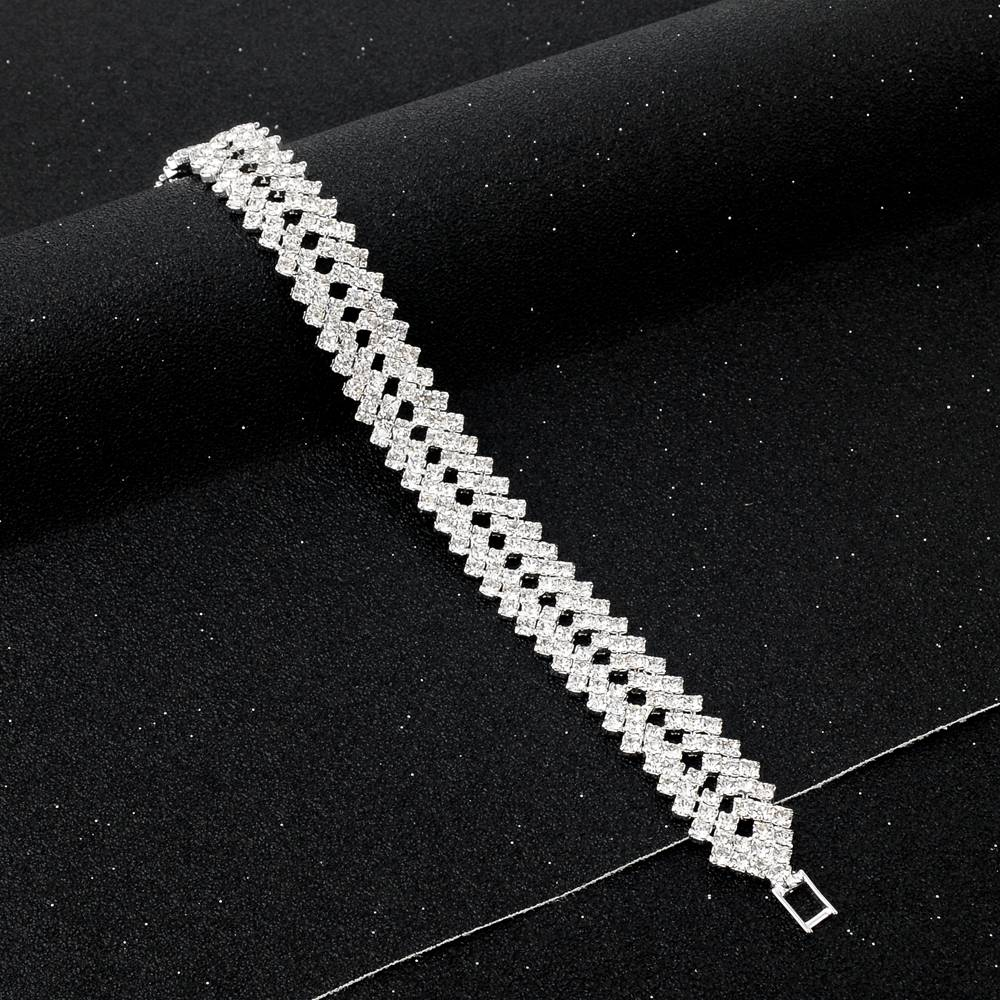 Crystal Bracelets For Women Silver color Bracelets & Bangles Wedding Jewelry Bracelet